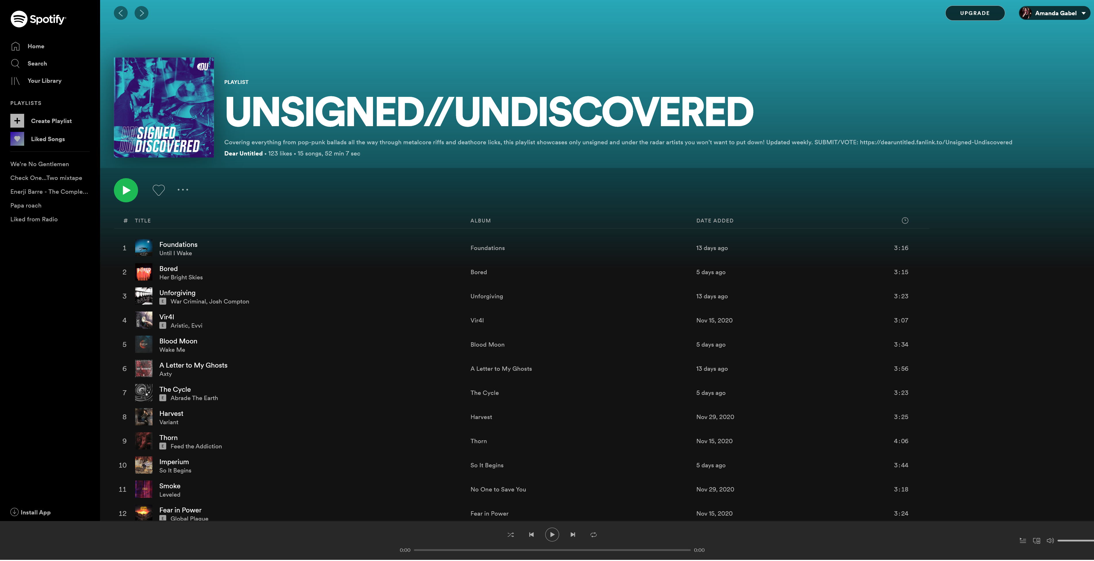 Spotify – UNSIGNED UNDISCOVERED